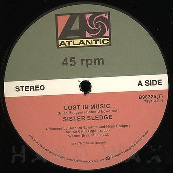 Cover art - Sister Sledge: Lost In Music
