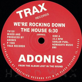 Cover art - Adonis: We're Rocking Down The House