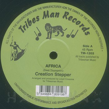 Cover art - Creation Stepper: Africa