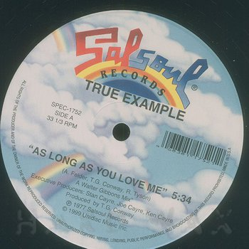 Cover art - True Example: As Long As You Love Me