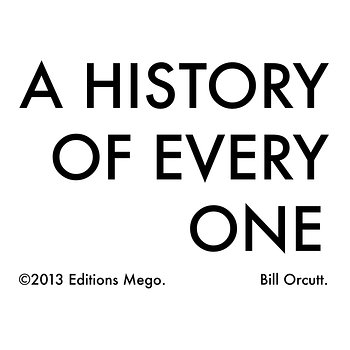Cover art - Bill Orcutt: A History Of Every One