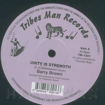 Cover art - Barry Brown: Unity Is Strength