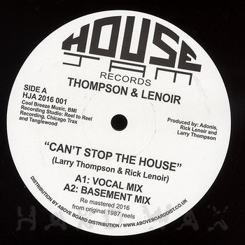 Cover art - Thompson & Lenoir: Can't Stop The House