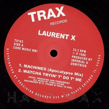 Cover art - Laurent X: Machines EP