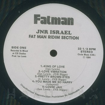 Cover art - Fatman Riddim Section: King Of Love
