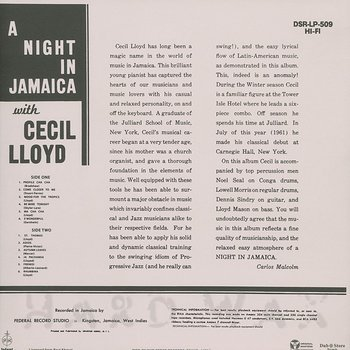 Cover art - Cecil Lloyd: A Night In Jamaica