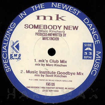 Cover art - MK: Somebody New