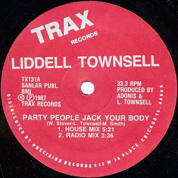 Cover art - Lidell Townsell: Party People Jack Your Body