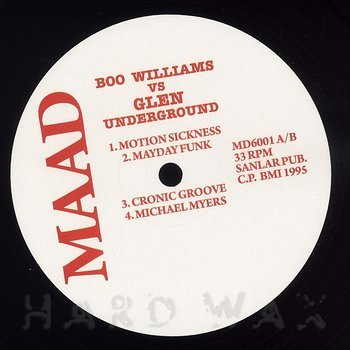 Cover art - Boo Williams vs. Glen Underground: Motion Sickness