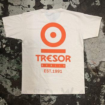 "Cover art - T-Shirt, Size M: ""Tresor"", Natural/Orange"