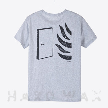 Cover art - T-Shirt, Size S: Workshop 19, gray melange w/ black print