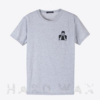 Cover art - T-Shirt, Size M: Workshop 19, gray melange w/ black print