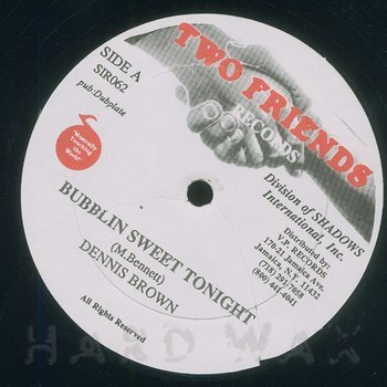 Cover art - Dennis Brown: Bubblin Sweet Tonight