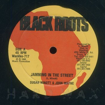 Cover art - Sugar Minott & John Wayne: Jamming In The Street