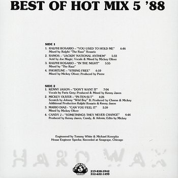 Cover art - Various Artists: Best Of Hot Mix 5 '88
