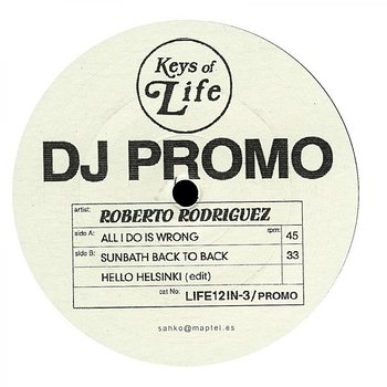 Cover art - Roberto Rodriguez: All I Do Is Wrong