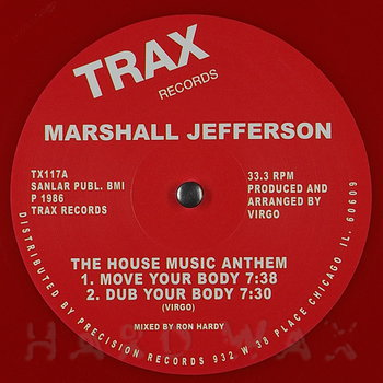 Cover art - Marshall Jefferson: The House Music Anthem