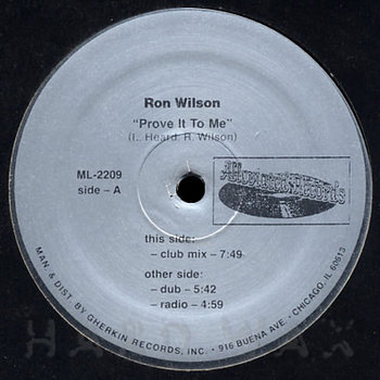 Cover art - Ron Wilson: Prove It To Me