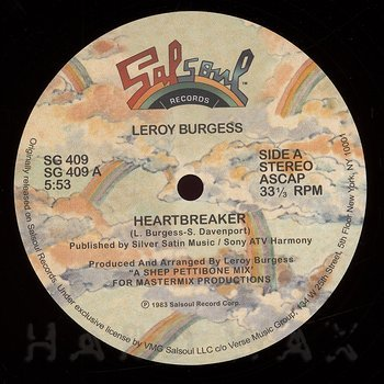 Cover art - Leroy Burgess: Heartbreaker / Stranger