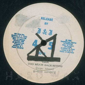 Cover art - Sugar Minott: Too Much Back-Biting