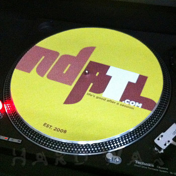 Cover art - Slipmat: NDATL, neon yellow / brown