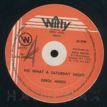 Cover art - Errol Hinds: Ho What A Saturday Night