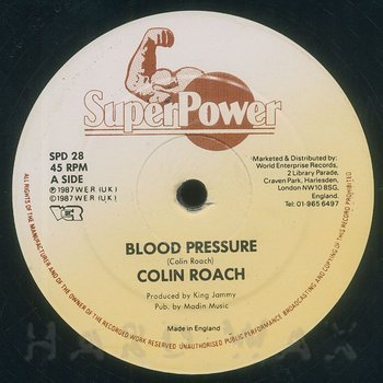 Cover art - Colin Roach: Blood Pressure