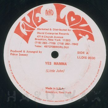 Cover art - Little John: Yes Mama