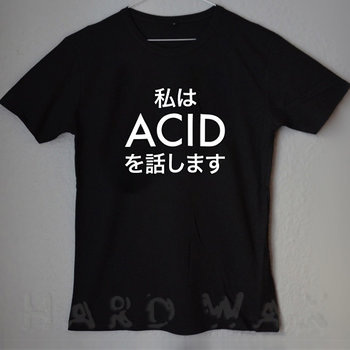 Cover art - T-Shirt, Black, Size L: Je Parle Acid, Japan ed.