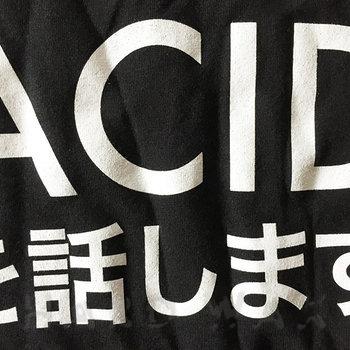 Cover art - T-Shirt, Black, Size XL: Je Parle Acid, Japan ed.
