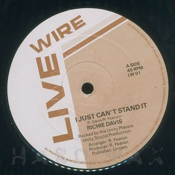Cover art - Richie Davis: I Just Can't Stand It