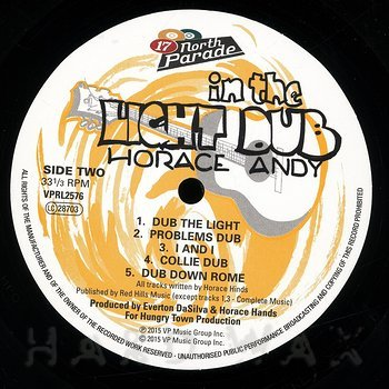 Cover art - Horace Andy: In The Light Dub