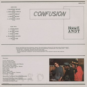 Cover art - Horace Andy: Confusion