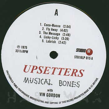 Cover art - Lee Perry & The Upsetters: Musical Bones