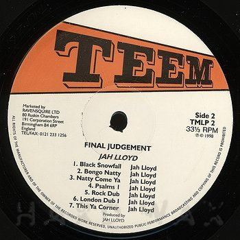 Cover art - Jah Lloyd: Final Judgement