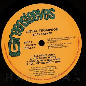 Cover art - Linval Thompson: Baby Father