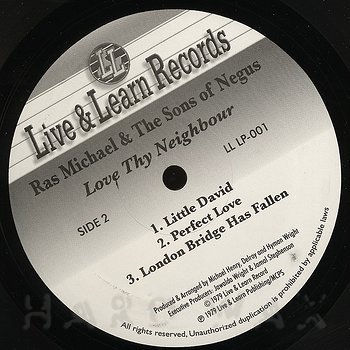 Cover art - Ras Michael & The Sons Of Negus: Love Thy Neighbour