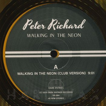 Cover art - Peter Richard: Walking In The Neon