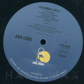 Cover art - Jah Lion: Colombia Colly