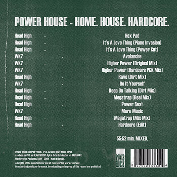 Cover art - Head High: Home. House. Hardcore.