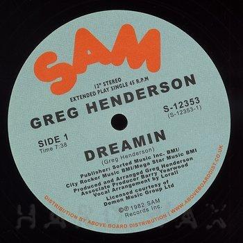 Cover art - Greg Henderson: Dreamin'