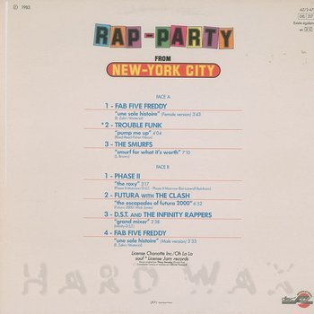 Cover art - Various Artists: Rap Party From New-York City
