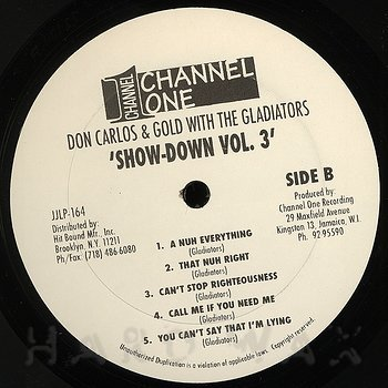 Cover art - Don Carlos & Gold / Gladiators: Showdown Vol. 3