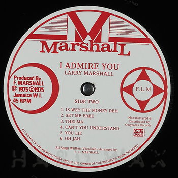 Cover art - Larry Marshall: I Admire You