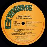 Cover art - Don Carlos: Day To Day Living