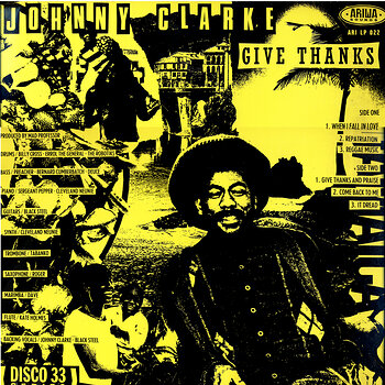 Cover art - Johnny Clarke: Give Thanks