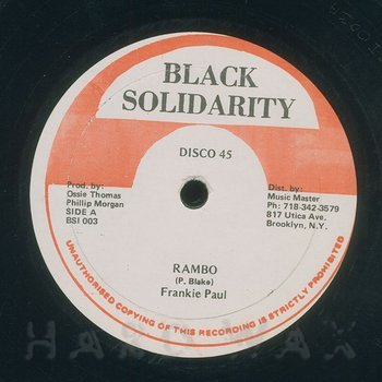 Cover art - Frankie Paul: Rambo