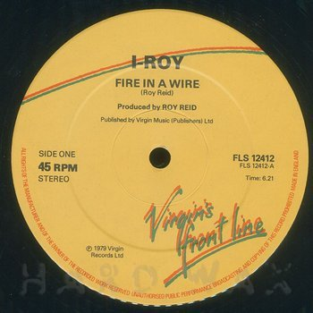 Cover art - I Roy: Fire In A Wire