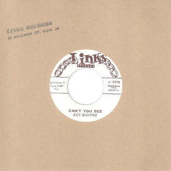 Cover art - Ken Boothe: Can't You See