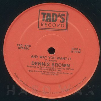 Cover art - Dennis Brown: Any Way You Want It